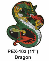 Dragon Embroidered Animal Patch (11)