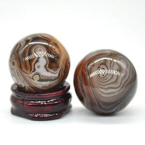 30MM-Natural-Gemstone-Madagascar-Agate-Crystal-Healing-Stone-Reiki-Shpere-Ball
