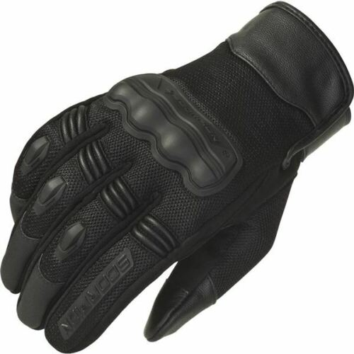 Black All Scorpion EXO Divergent Vented Leather//Textile Motorcycle Glove