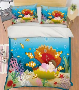 3D-Seashell-Girl-637-Bed-Pillowcases-Quilt-Duvet-Cover-Set-Single-Queen-AU-Carly