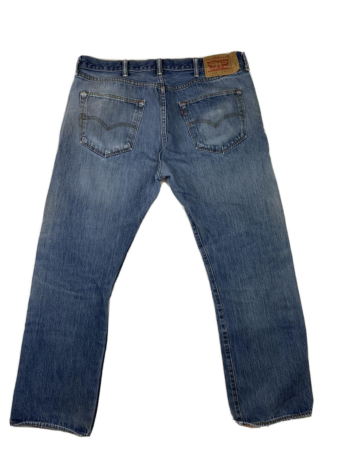 Levis 501 Jeans Mens Size 38x30 Blue Distressed - image 1