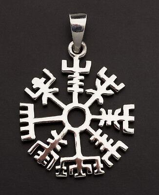 Pendentif nordique Tiwaz Tyr Rune Viking Pentacle Païen Argent 925 5g 25850 K25
