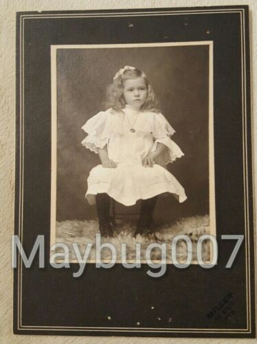 Antique Mounted Photograph beautiful little girl San Marcos, Texas