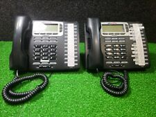 Lot Of 2 Allworx 9224 Black Lcd Business Ip Telephones With Handsets And Stands