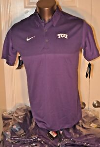cheap for discount db058 1d45e Image is loading TCU-Horned-Frogs-Nike-DRI-FIT-Performance-Purple-