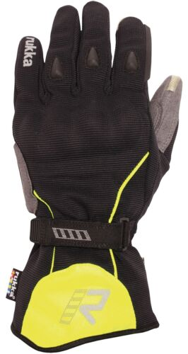 Rukka Virium Gore-Tex Gloves Black /& Yellow Touch Screen Suitable With