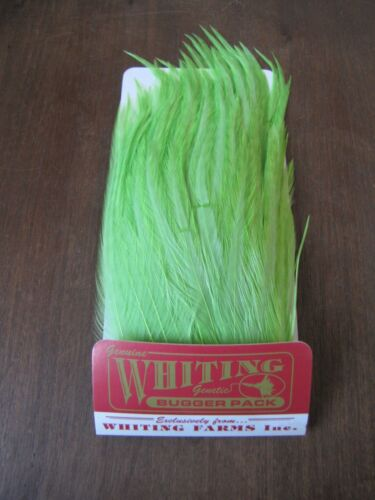 Fly Tying-Whiting Farms Bugger Pack White dyed Insect Green