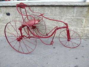 RARE-ANTIQUE-CHILD-039-S-PEDAL-CART-TRICYCLE-VELOCIPEDE-ORIGINAL-VERY-NICE