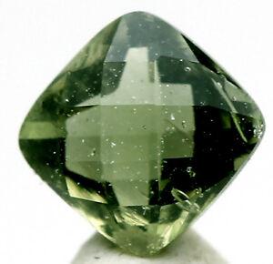 moldavite faceted high grade gemstone meteorite