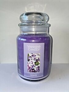 ☆☆LILACS☆☆ LARGE YANKEE CANDLE JAR~FREE SHIP☆☆FLORAL SCENTED CANDLE