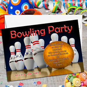 10 personalised boys girls kids tenpin bowling birthday party image is loading 10 personalised boys girls kids tenpin bowling birthday filmwisefo