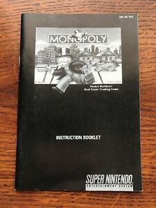 Monopoly-SNES-Super-Nintendo-Instruction-Manual-Only
