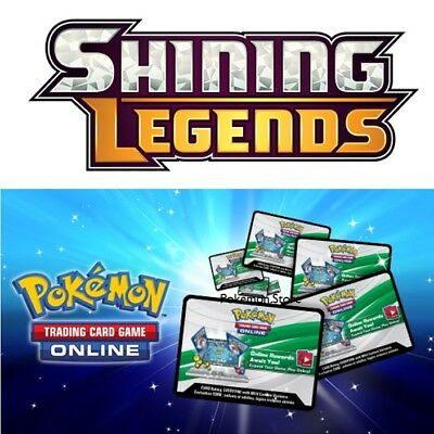 emailed 10x Pokemon Shining Legends TCGO Unused Booster code