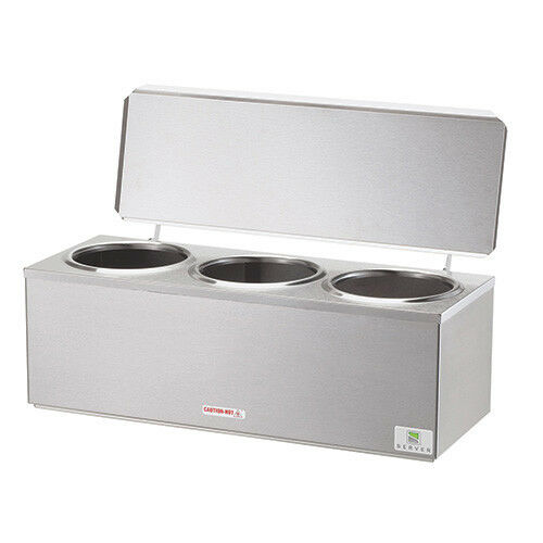 Heated Dip Server Warmer Three Wells