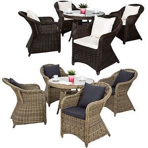 alu garten sitzgruppe 4 gartenstuhl tisch set polyrattan gartenm bel stuhl ebay. Black Bedroom Furniture Sets. Home Design Ideas