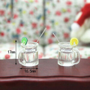 2Pcs-dollhouse-model-miniature-food-playing-mini-lemonade-F