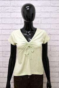 Maglia-LUISA-SPAGNOLI-Donna-Taglia-Size-M-Maglietta-Shirt-Woman-Manica-Corta