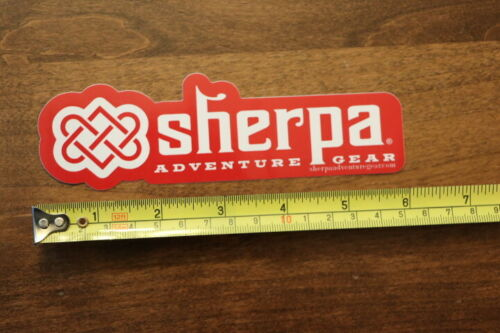 SHERPA Adventure Clothing STICKER Decal NEW Red