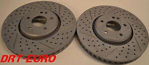 Fits-E55-AMG-C43-AMG-CLK-55-AMG-Drill-Slot-Brake-Rotors-Premium-Grade-Front-Pair