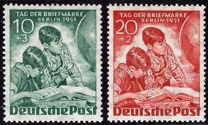 Berlino 80/81 ** Giorno Francobollo della 1951, posta freschi