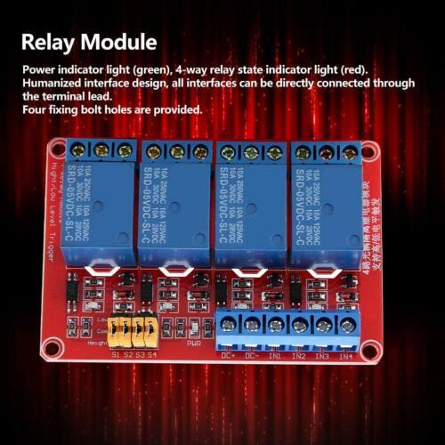 4-Kanal Relais Modul Optokoppler Relaismodul Platine 5V//12V//24V