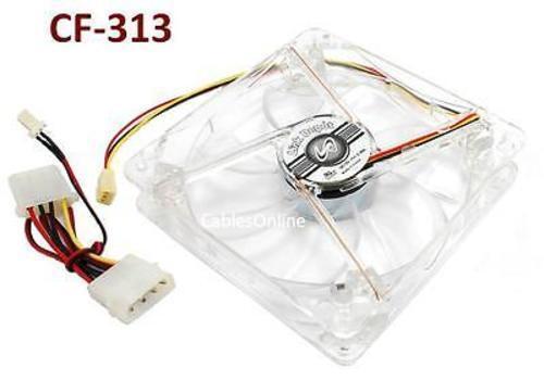 120mm 3-Pin// 4-Pin CPU Crystal LED Sleeve Bearing Case Cooling Fan CF-313