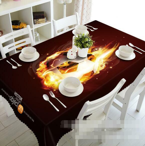 3D Football 79 Tablecloth Table Cover Cloth Birthday Party Event AJ WALLPAPER AU