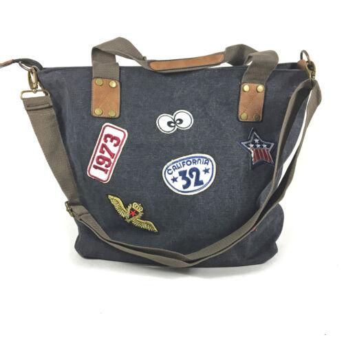 Style Vintage Aufnäher Tasche Patches Segeltuch Handtasche Schulter Canvas SUVzGqpM