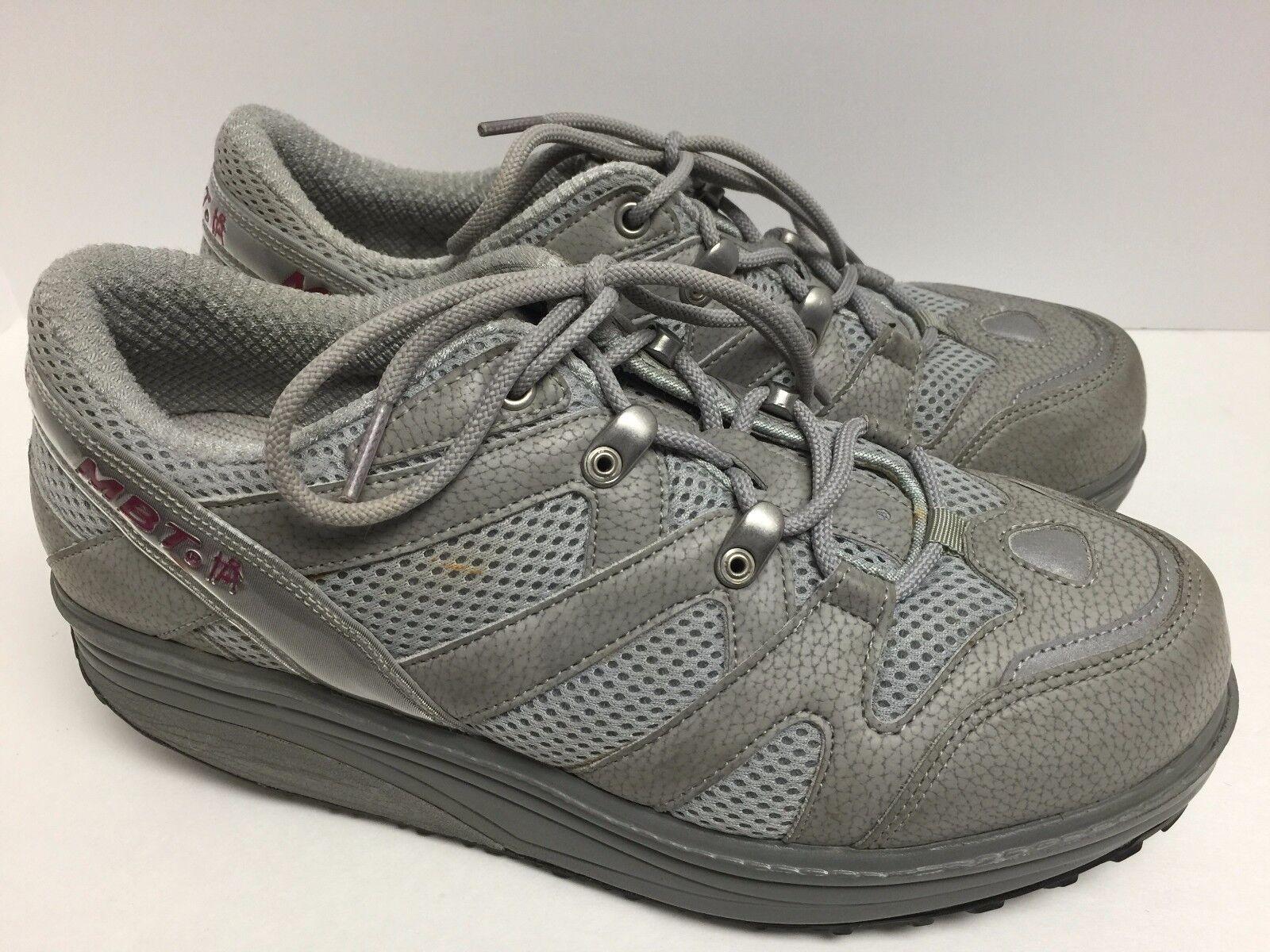 MBT gris De De De Deporte Zapatos para Caminar 9.5 M Swiss orthodic postura Tonificación Suela de eje de balancín  Tienda 2018