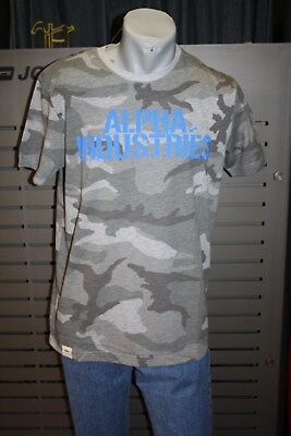 ALPHA INDUSTRIES CAMO NASA SPACE SHUTTLE T-SHIRT CAMOUFLAGE ARMY MILITARY RARE