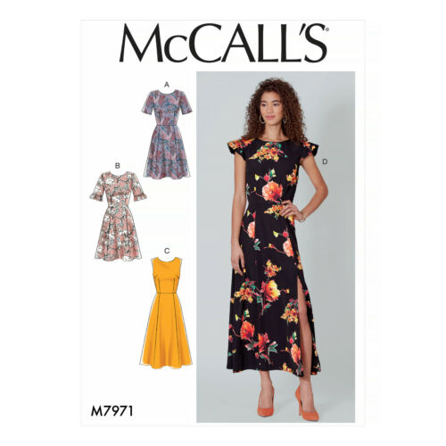 McCall/'s 7971 Sewing Pattern to MAKE Easy Dress with Variations in Cup Sizes