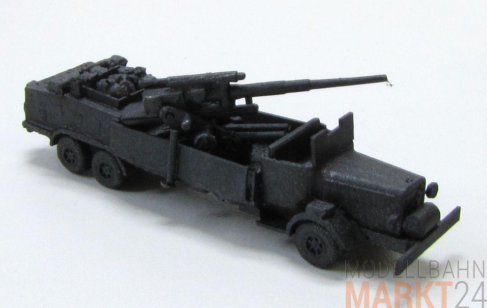 8,8 cm artillerie sur camion 2. Guerre Mondiale Allemand militaire stand modèle échelle 1 160
