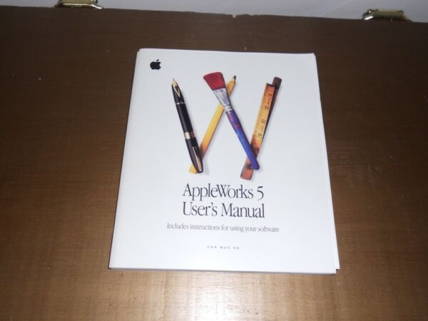 100% Waar Vintage Appleworks 5 Users Manual, Installation And Reference Card