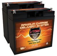 Qty 2 Vmax V20-600 24v Pack, 20ah 12 Volt Each For Golden Technologies Gp160