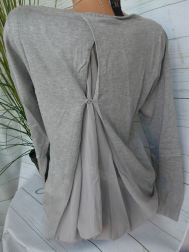 NEUF Heine Tricot Pull Pull Taille 34 à 44 Gris Arrière chemisiers utilisation 167