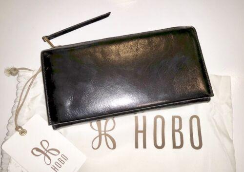 NWT Hobo International The Original Dane Bifold Leather Wallet Clutch Black $138