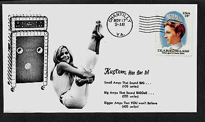 Vintage Musical Instruments Industrious 1968 Kustom Amp Ad And Sexy Girl Featured On Collector's Envelope *a217 Cheapest Price From Our Site Musical Instruments & Gear