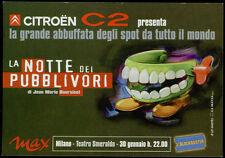cartolina pubblicitaria PROMOCARD n.4149 CITROEN C2 MILANO 30 GENNAIO AUTO