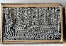 Vintage Acme Lead Letterpress Type Fractions Percent Sign Original Box