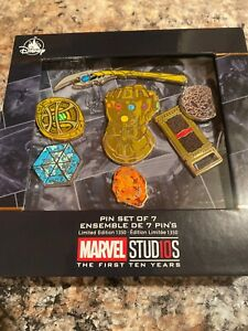Disney-Marvel-Studios-The-First-Ten-10-Years-Anniversary-Pin-Set-Infinity-Stone