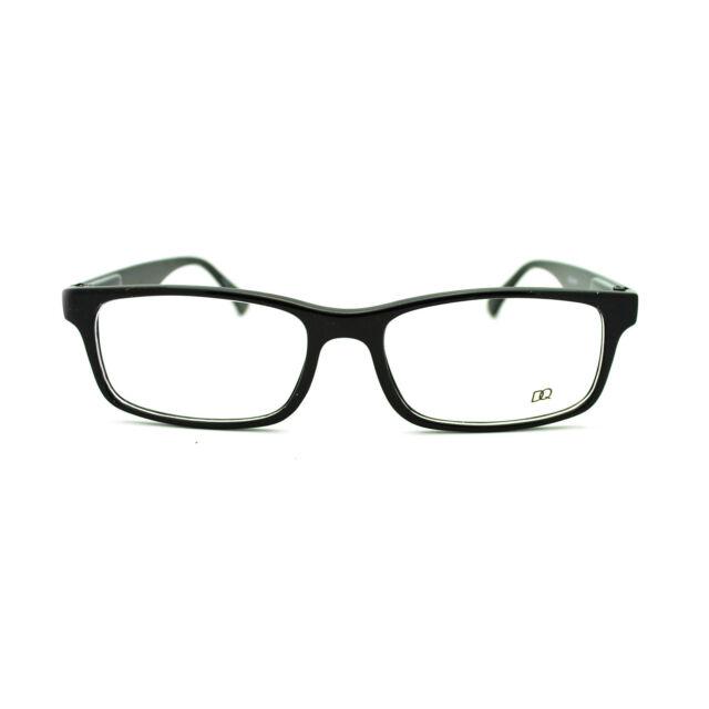All Black Classic Small Narrow Rectangular Plastic Frame Clear Lens ...