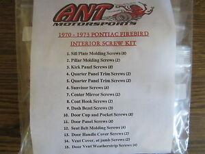 1970 1971 1972 1973 PONTIAC FIREBIRD INTERIOR SCREW KIT    62pcs.