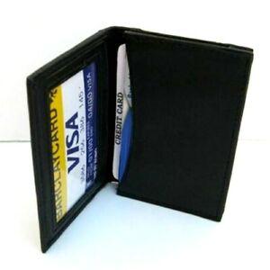 Black-Men-039-s-Leather-Thin-Bifold-Wallet-Credit-Cards-Holder-202-SALE