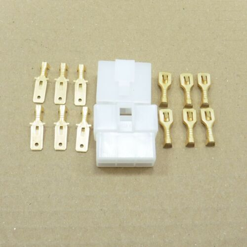 Way Pin 6.3mm Connector Plug with Pin Kit Socket Car Scooter Motorbike
