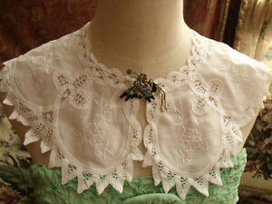 Image Is Loading Victorian Battenburg Lace Collar Dress Trim White Linen