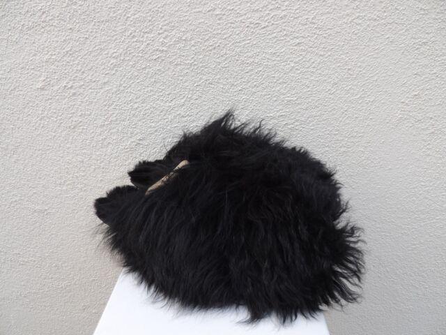 7fcfd537791 UGG Black Fluff Momma Mongolian Clog Sheepskin Slippers US 11/ EUR 42