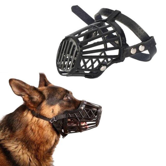Strong Dog Muzzle Basket Anti-Biting Mouth Cover Dog Adjustable Straps Mask AZ