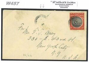 W457-1930-BAHAMAS-Governor-039-s-Harbour-USA-New-York-samwells-covers
