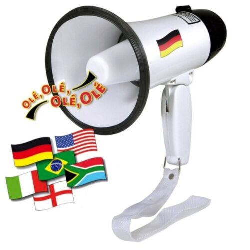 H+H Megaphone mit Fußballhymne Ole Ole Fußball-Megafon