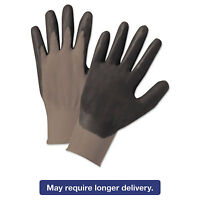Anchor Brand Nitrile-coated Gloves Gray/black Nylon Knit Medium 12 Pairs 6020m on Sale